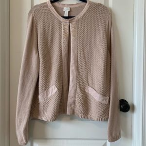 Chico's Studded Open Front Cardigan
